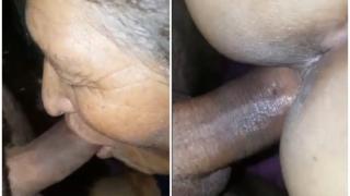 Abuela latina chupando y follando como una juvenil