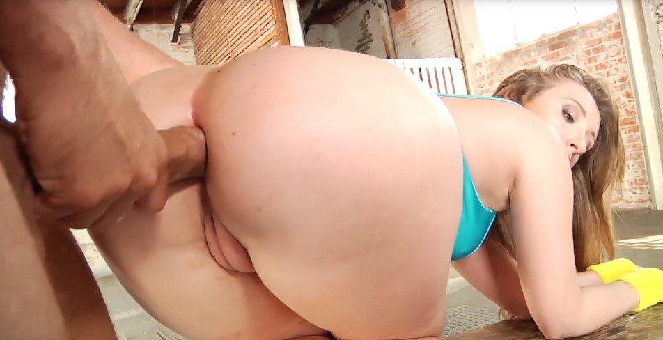 Nena de gran culo ama el sexo anal amateur con el papi